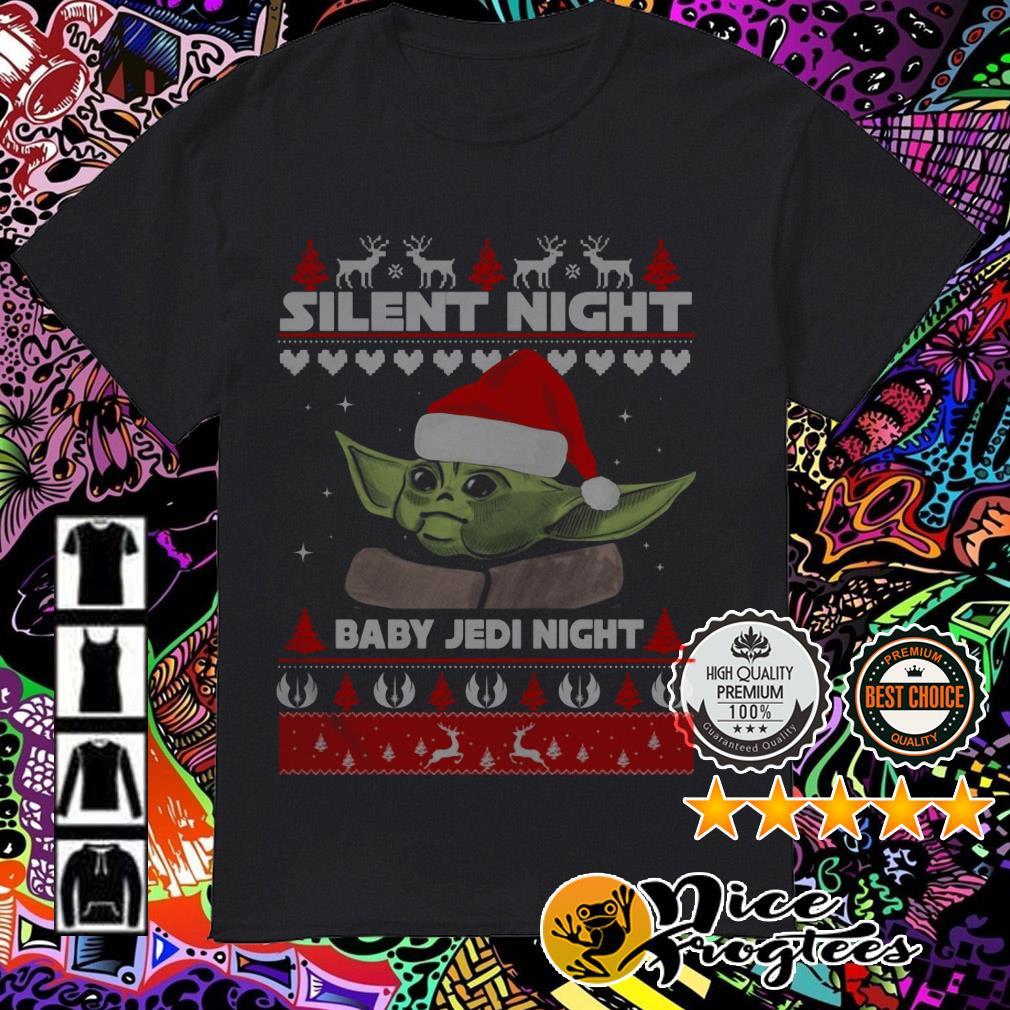 Baby Yoda Santa Silent night Baby Jedi Night Christmas sweatshirt