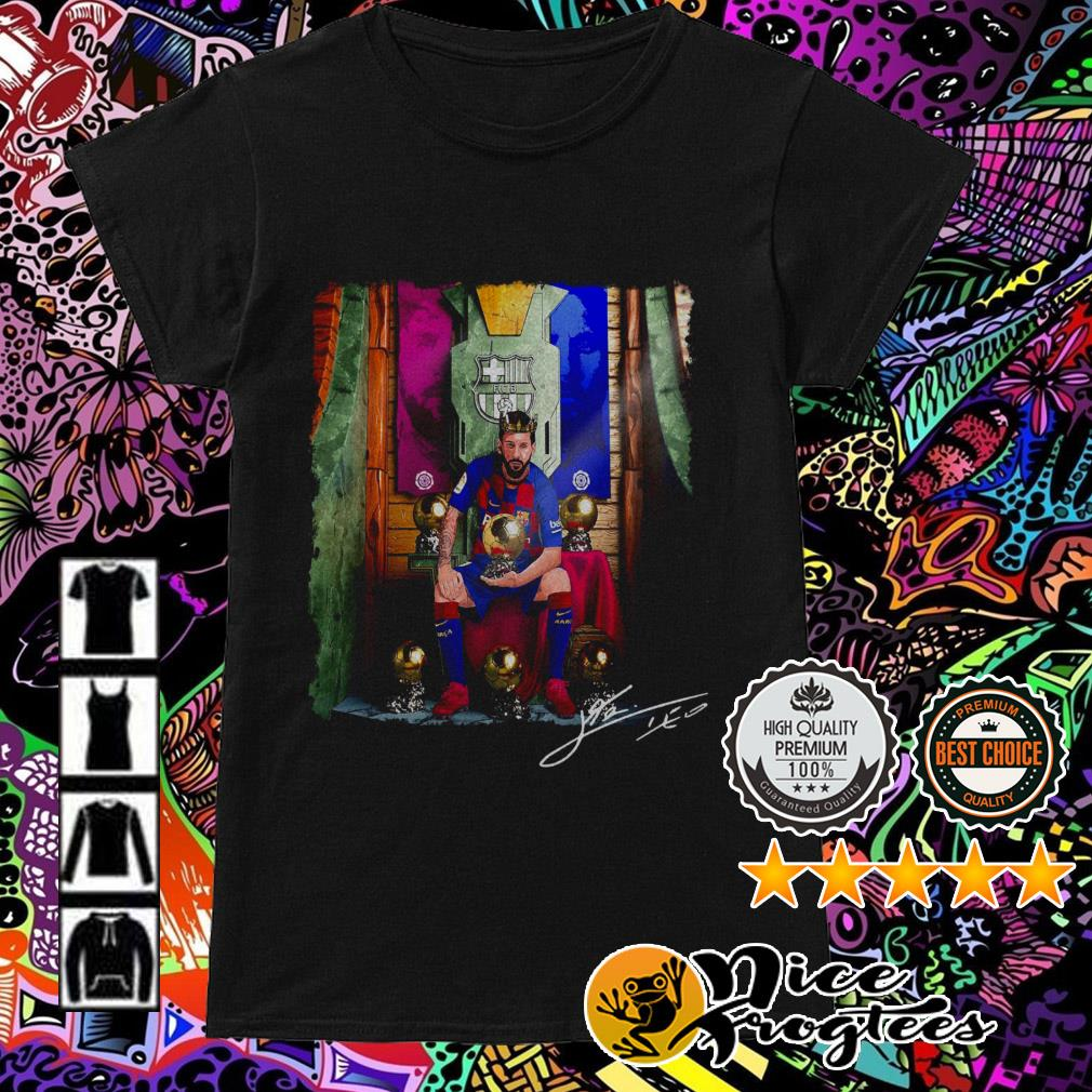Barcelona Lionel Messi The King Ladies Tee