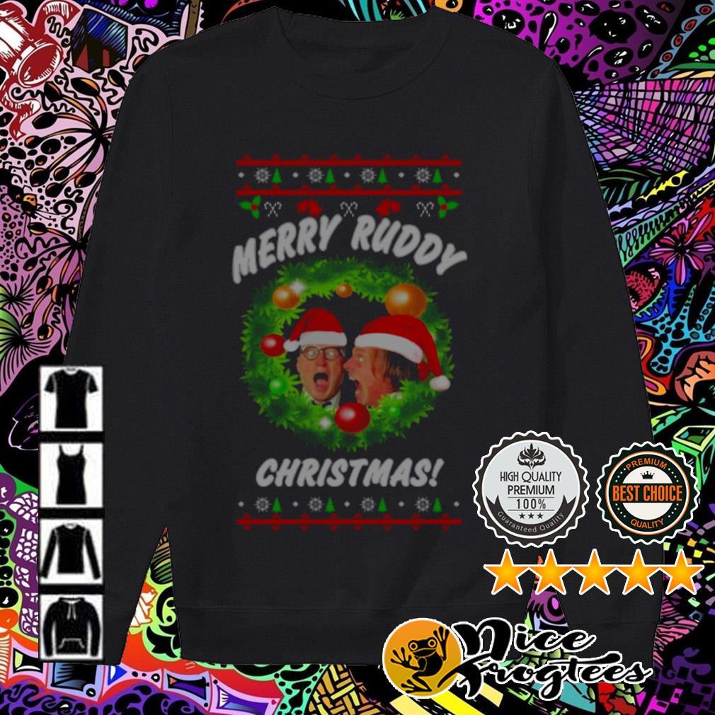 Bottom Richie And Eddie Merry Ruddy Christmas wreath sweater