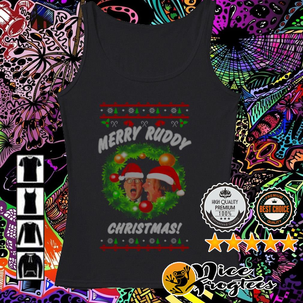 Bottom Richie And Eddie Merry Ruddy Christmas wreath Tank top