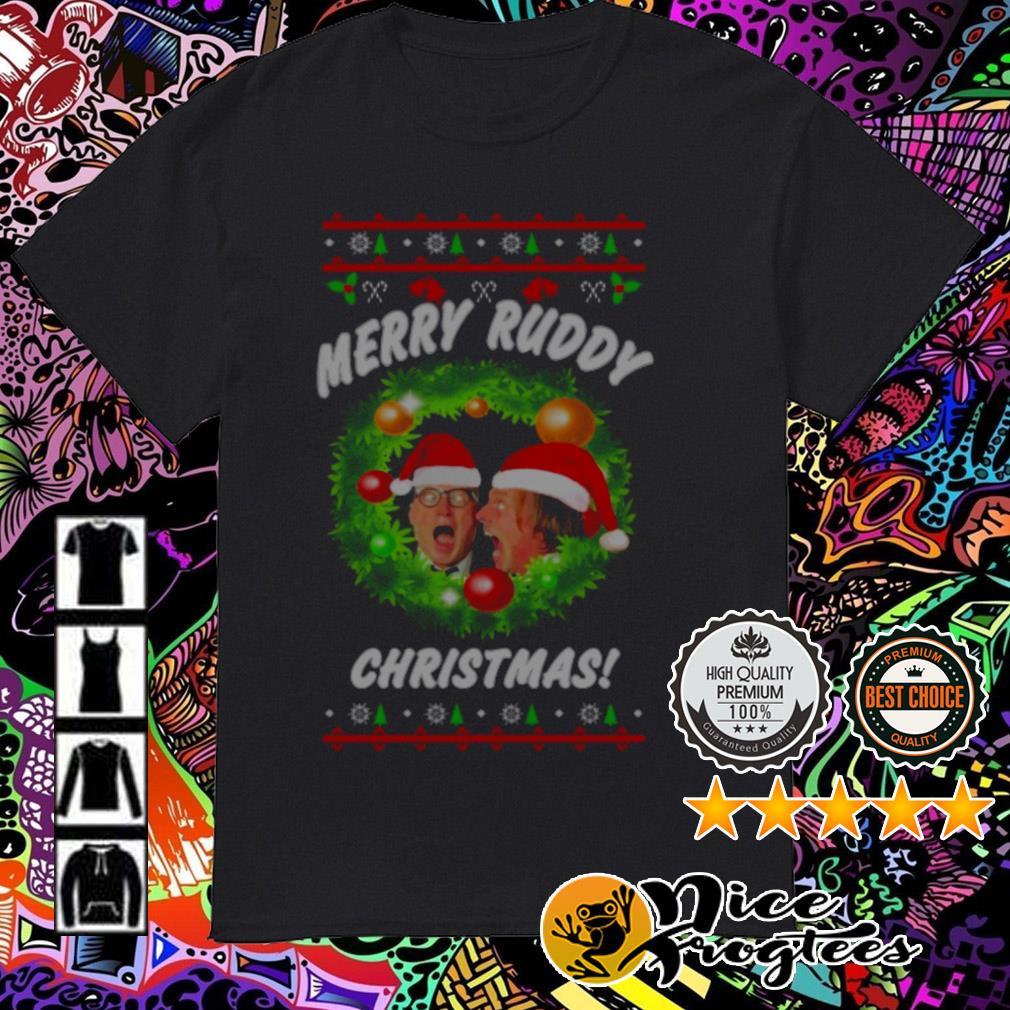 Bottom Richie And Eddie Merry Ruddy Christmas wreath guys shirt