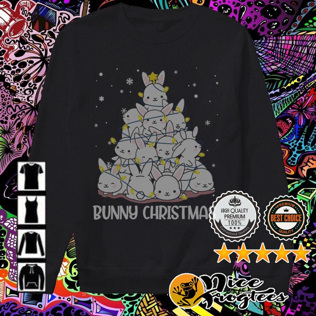 Bunny Christmas tree sweatshirt
