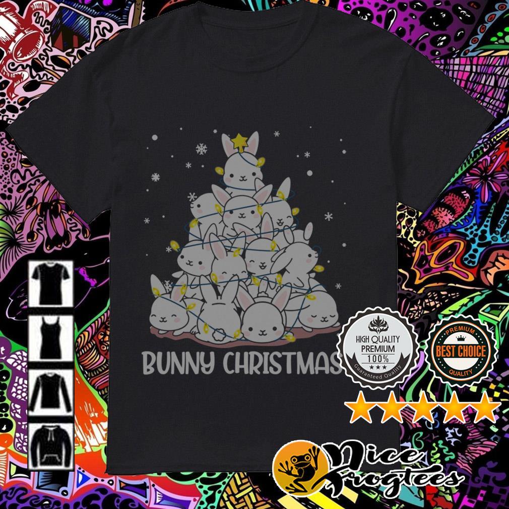 Bunny Christmas tree Guys shirt