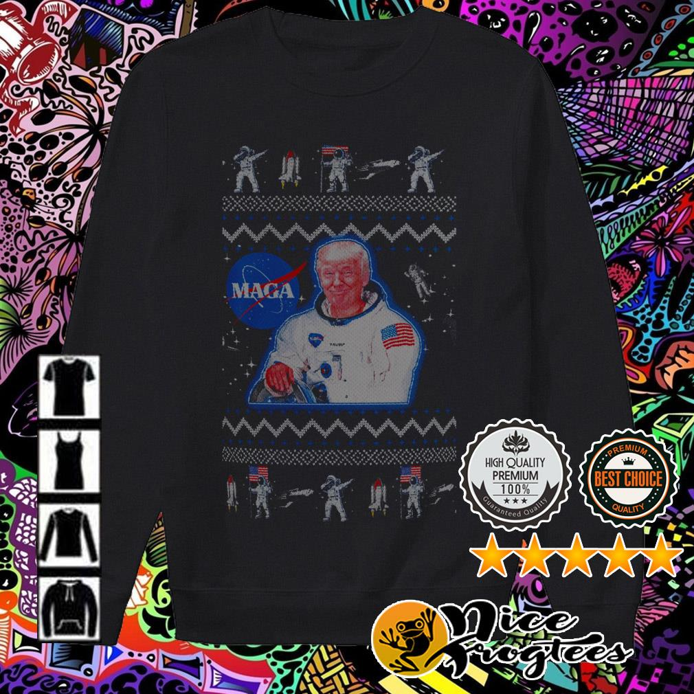 Donald Trump Maga Nasa Christmas sweatshirt