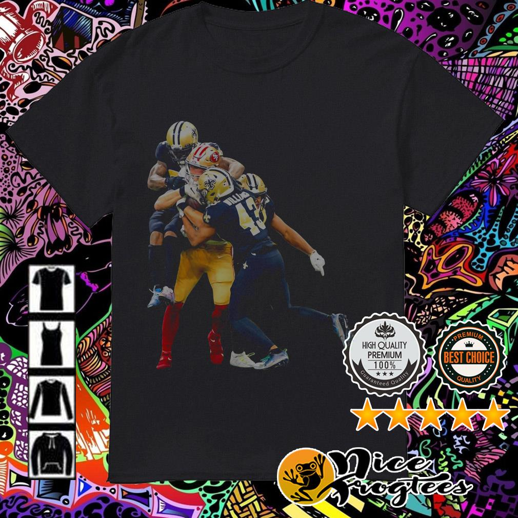 George Kittle 49ers vs Saints shirt