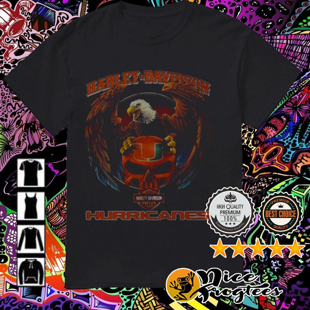 Harley-Davidson motorcycles Miami Hurricanes shirt