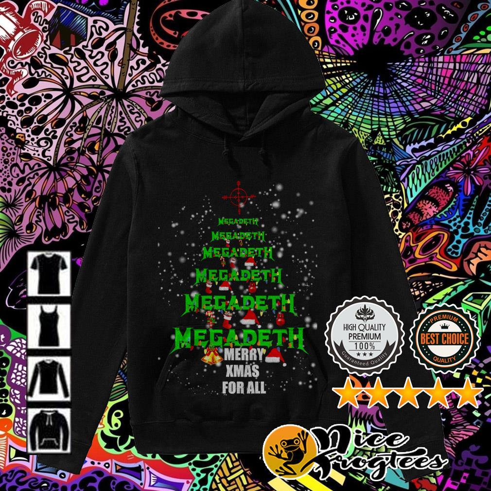 Megadeth Christmas tree Merry Xmas for all Hoodie
