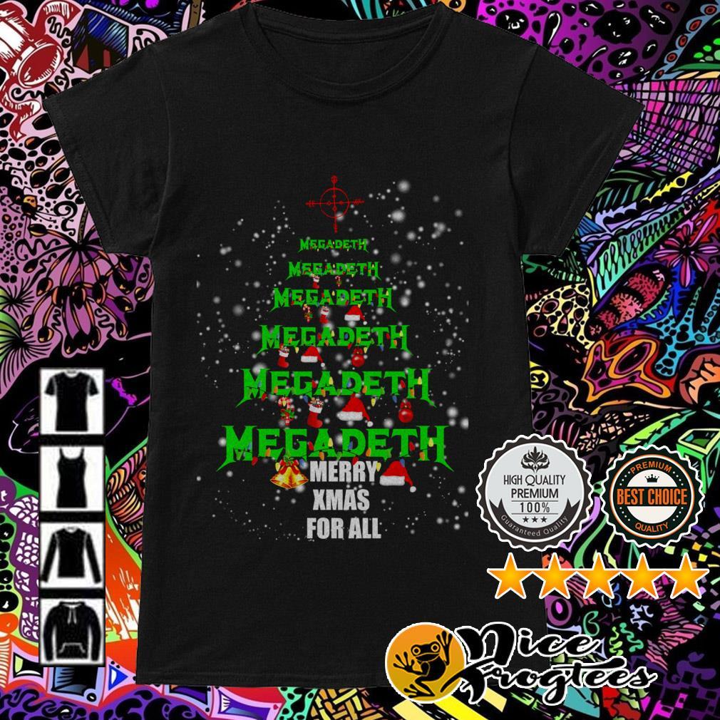 Megadeth Christmas tree Merry Xmas for all Ladies Tee