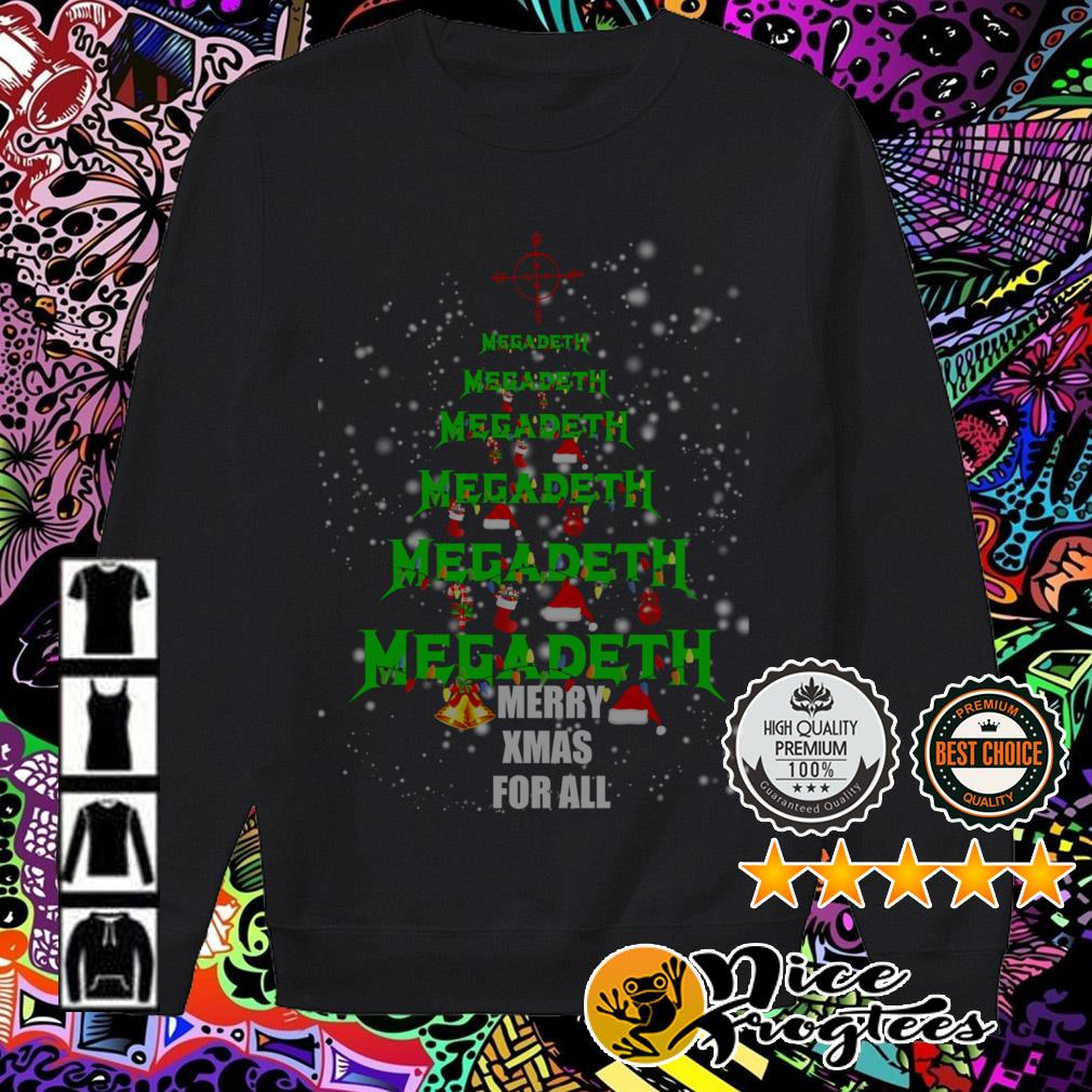 Megadeth Christmas tree Merry Xmas for all Sweater