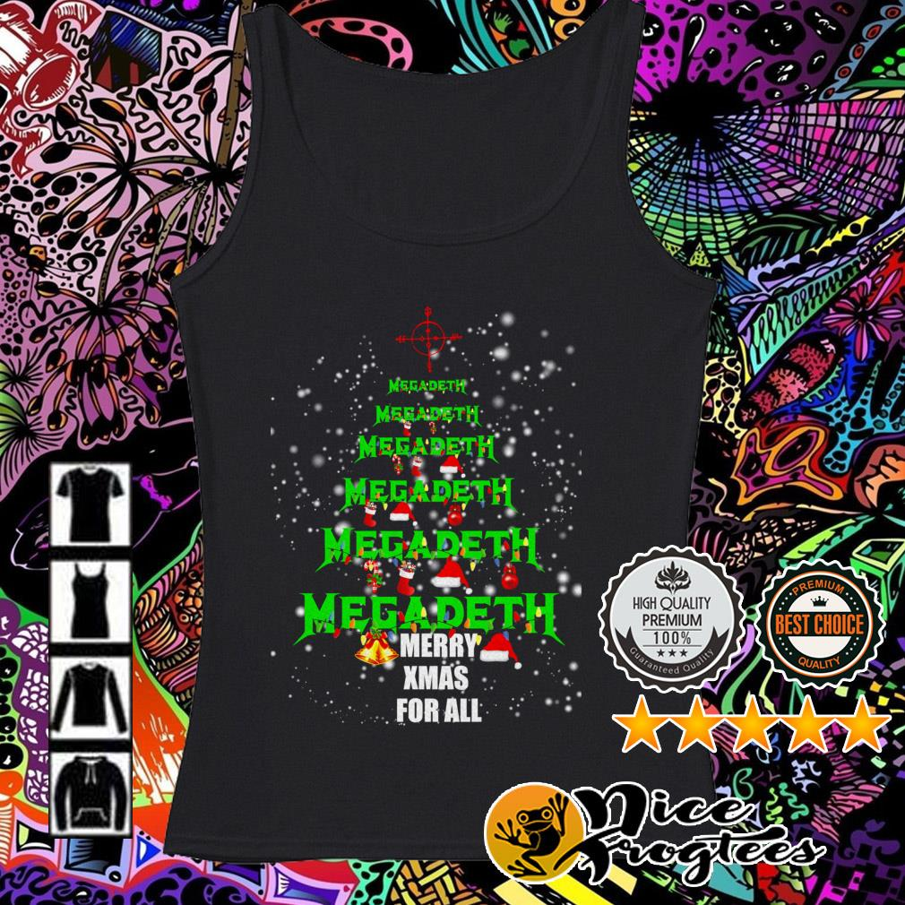 Megadeth Christmas tree Merry Xmas for all Tank top