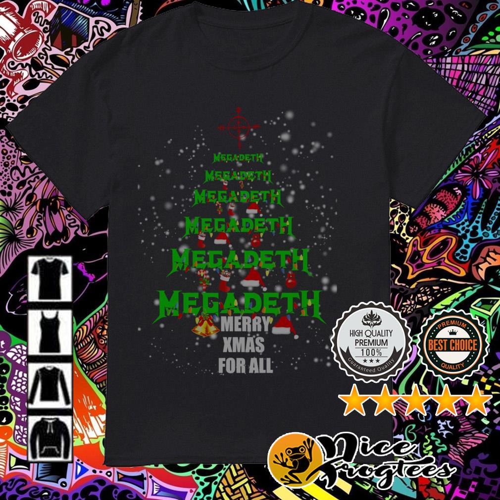 Megadeth Christmas tree Merry Xmas for all sweatshirt