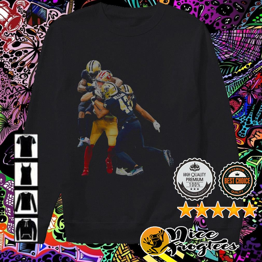 New Orleans Saints players fighting San Francisco 49ers players Sweater