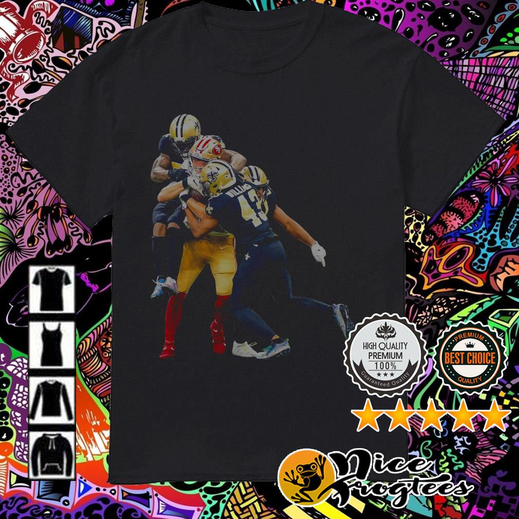 New Orleans Saints players fighting San Francisco 49ers players shirt