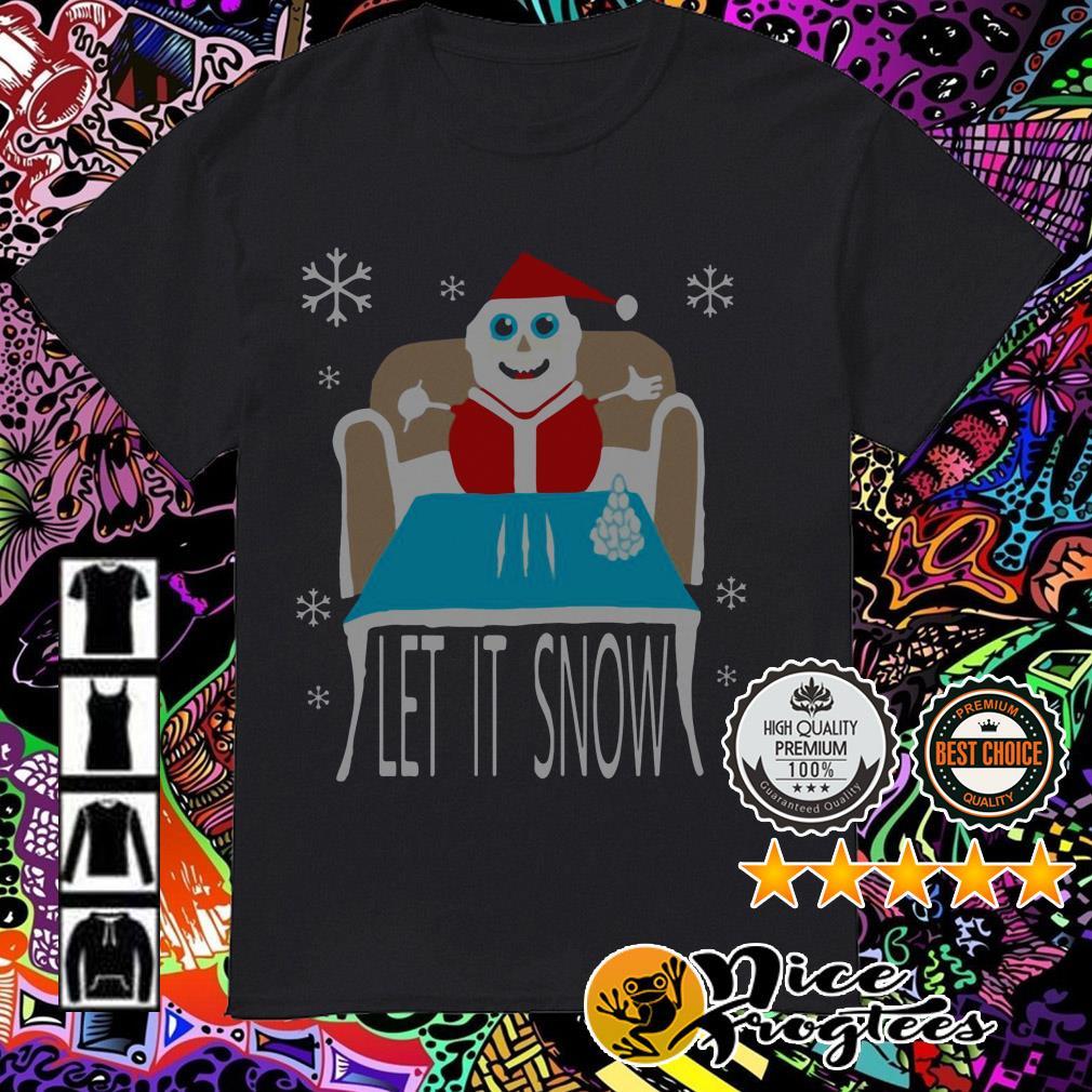 Official Cocaine Santa let it snow Christmas sweatshirt