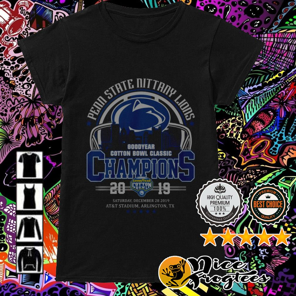 Penn State Nittany Lions Good Year Cotton Bowl Classic Champions 2019 Ladies Tee