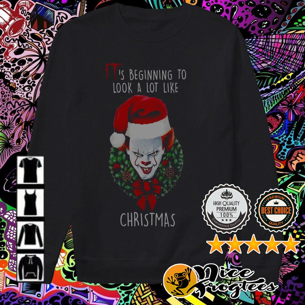 Pennywise Santa Christmas wreath it's beginning to look a lot like Sweater