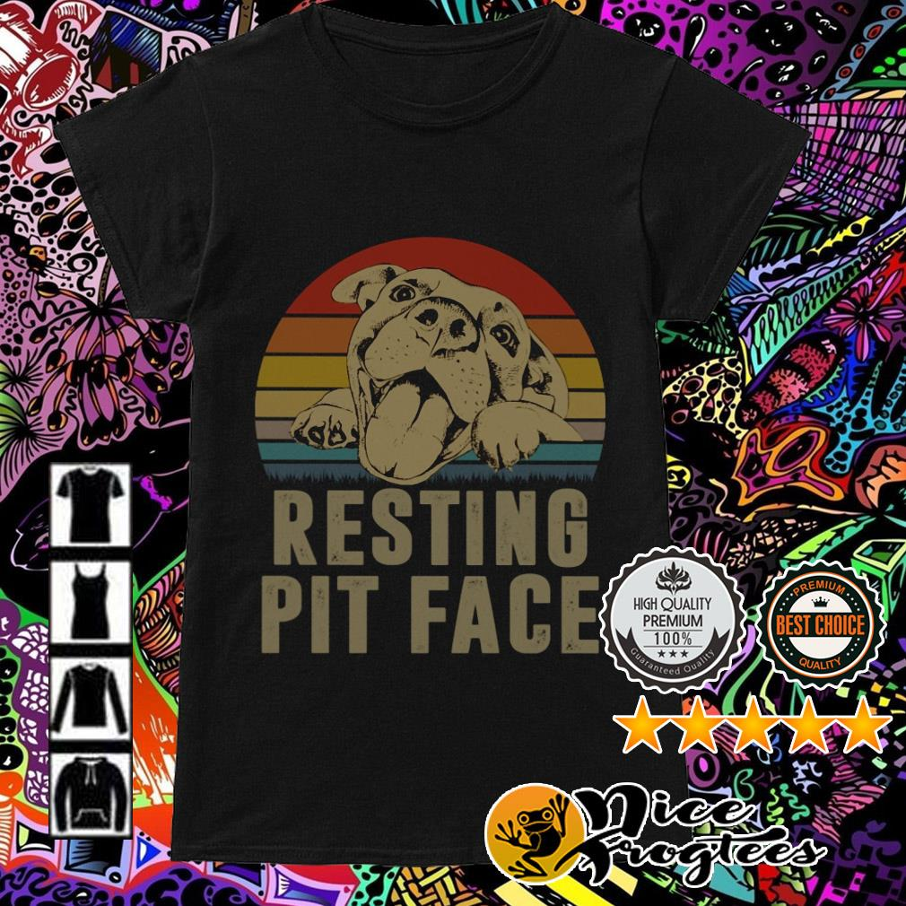 Pitbull Resting Pit Face vintage Ladies Tee