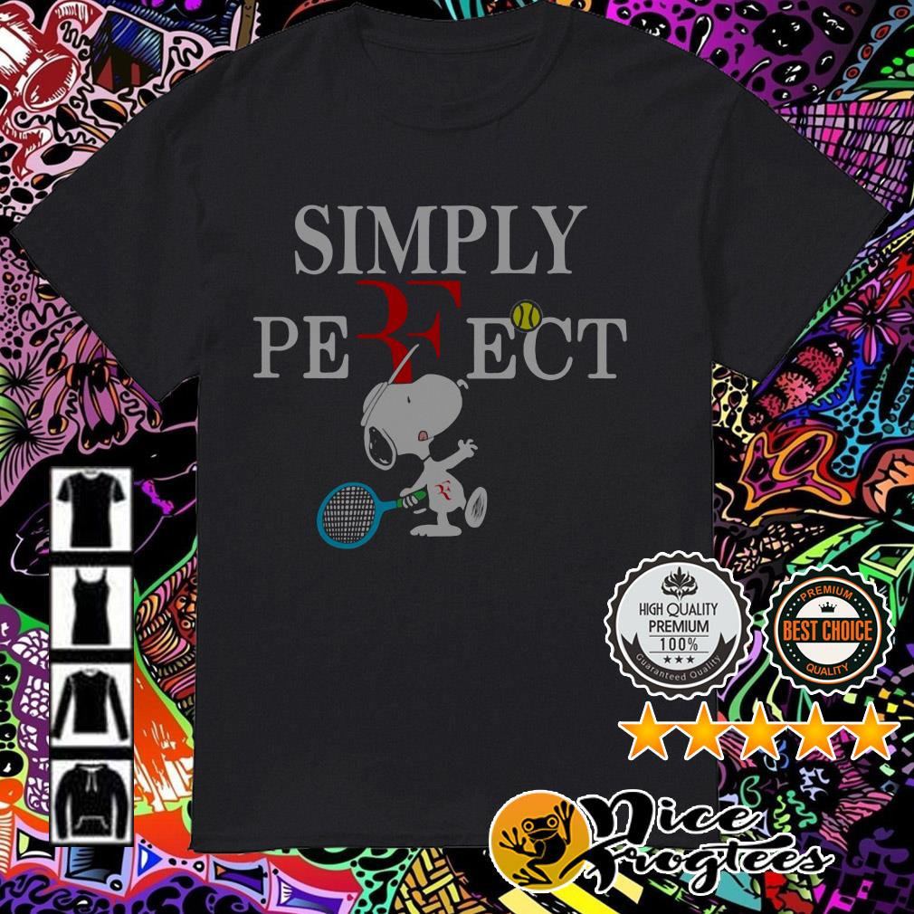 Roger Federer Snoopy simply perfect shirt