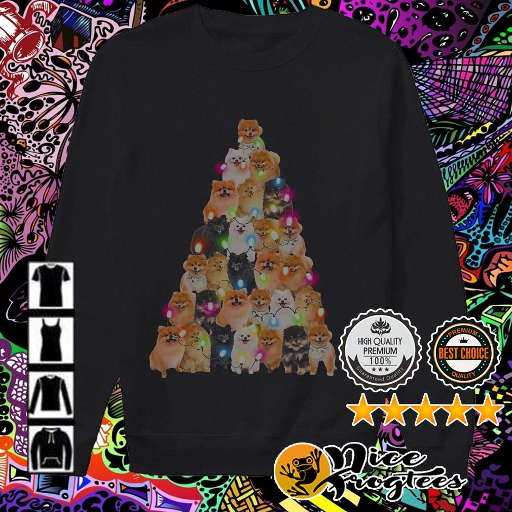 Shiba Inu Christmas tree sweatshirt