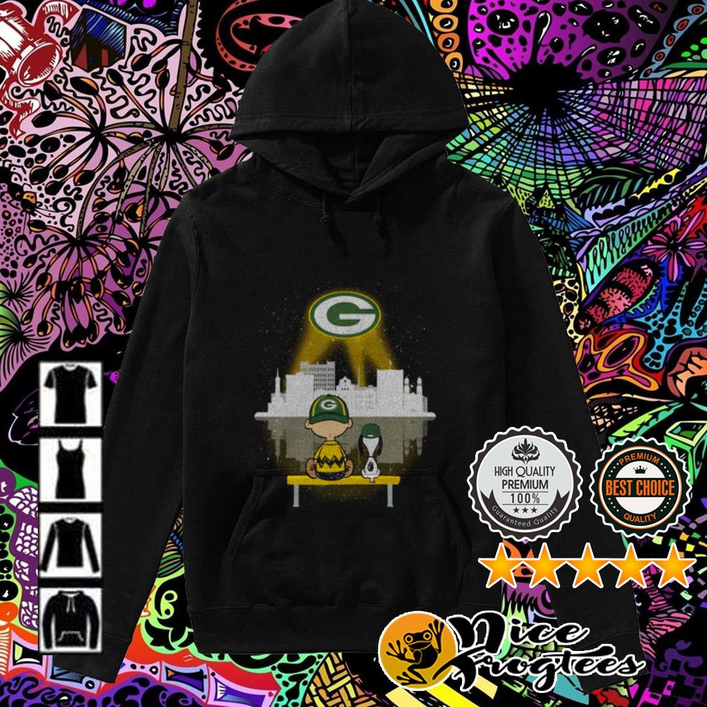 Snoopy and Charlie Brown watching city Green Bay Packers Hoodie