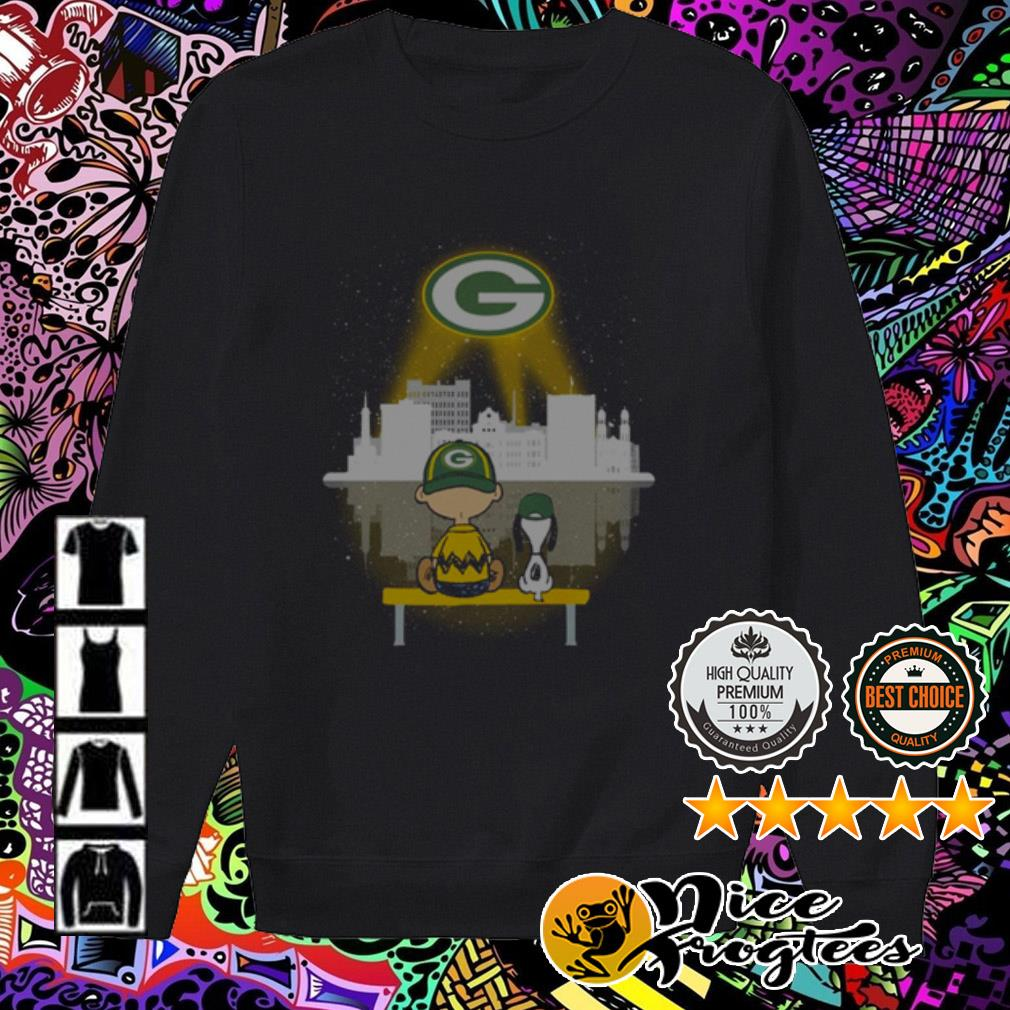Snoopy and Charlie Brown watching city Green Bay Packers Sweater