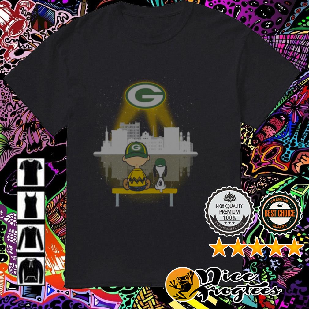Snoopy and Charlie Brown watching city Green Bay Packers shirt