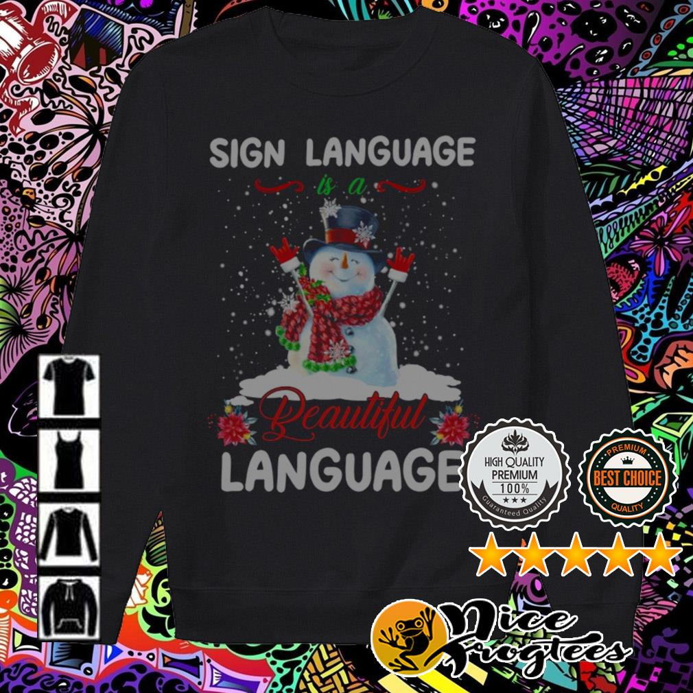 Snowman sign language is a beautiful language Christmas sweater