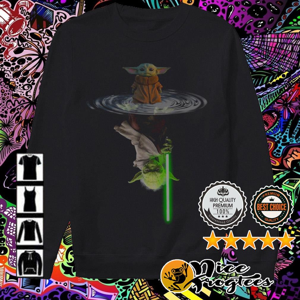 Star Wars Baby Yoda The Mandalorian water mirror reflection Sweater