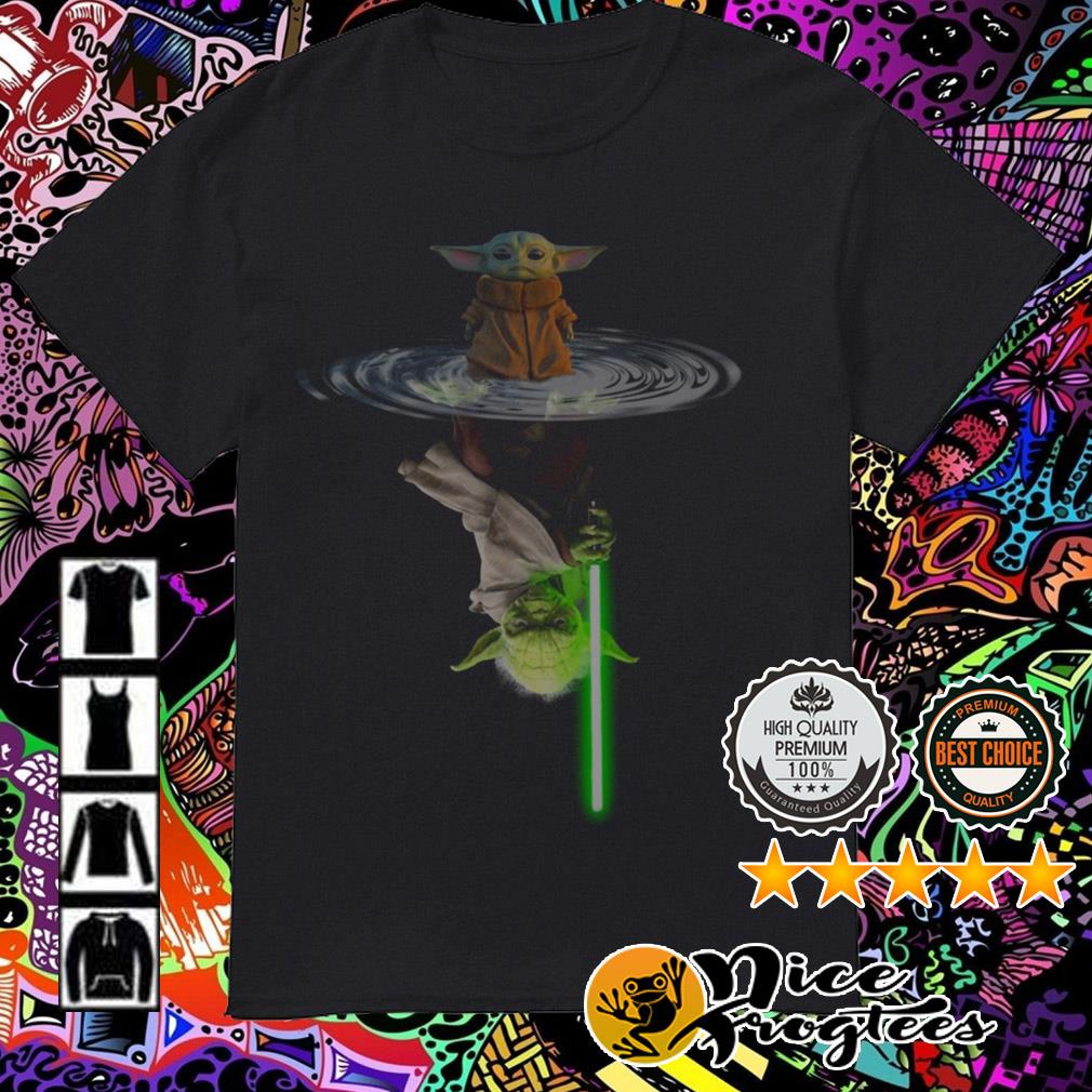 Star Wars Baby Yoda The Mandalorian water mirror reflection shirt