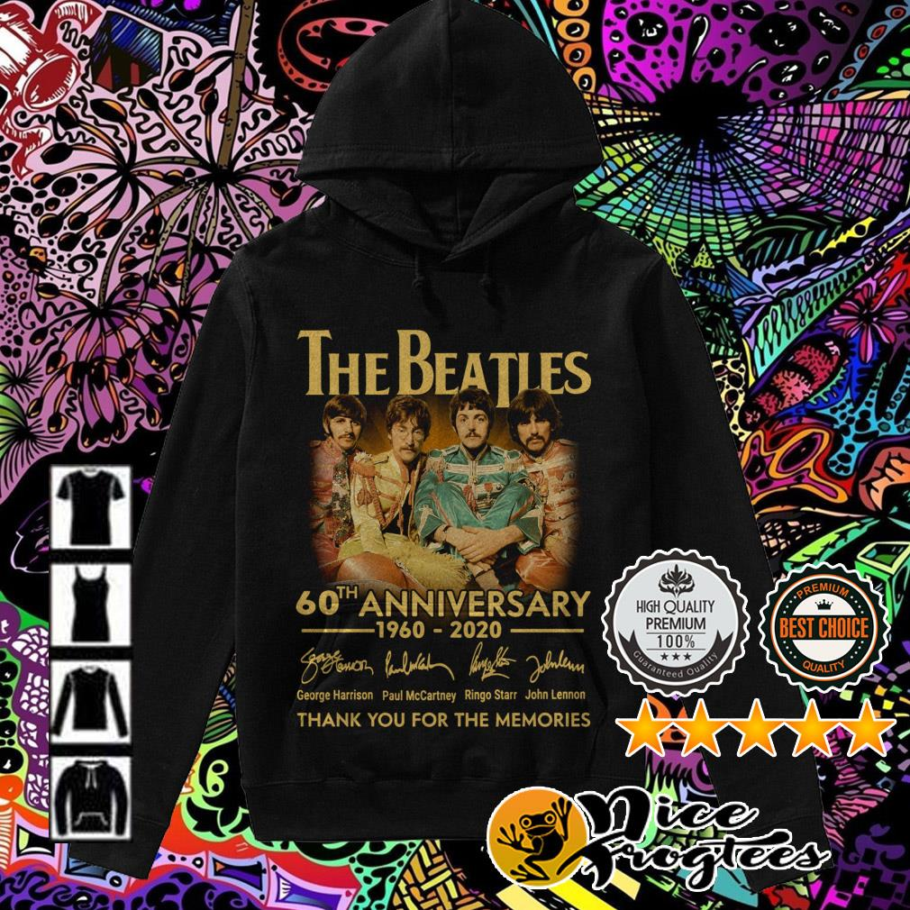 The Beatles 60th Anniversary 1960-2020 signatures thank you for the memories Hoodie