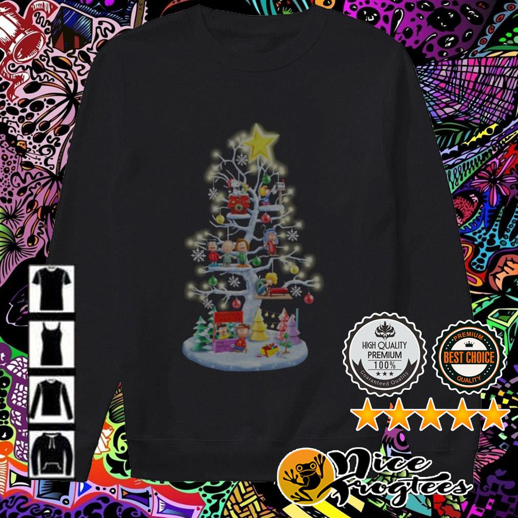 The Peanuts all characters Christmas tree sweatshirt