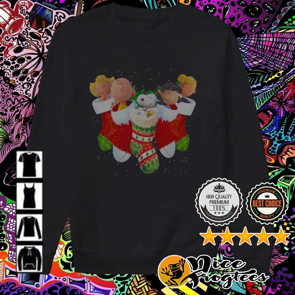 The Peanuts movies characters socks Christmas sweatshirt