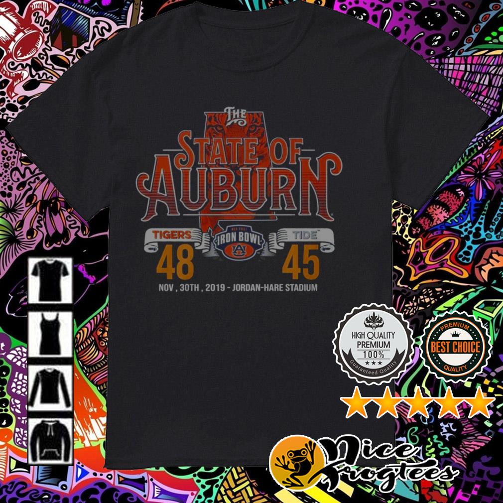 The State of Auburn Tiger Iron Bowl Jordan Hare Stadium shirt
