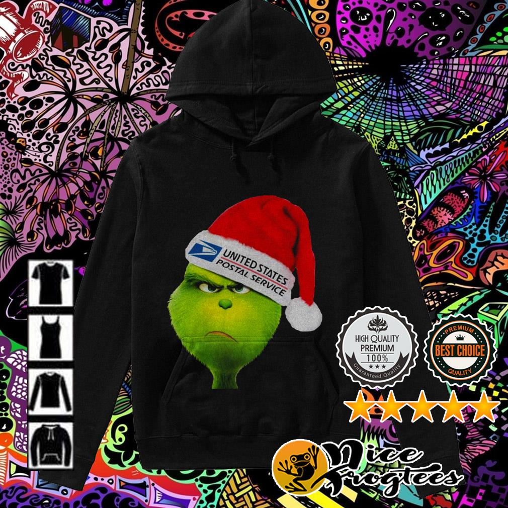 United States Postal Service Grinch Santa hat Christmas Hoodie