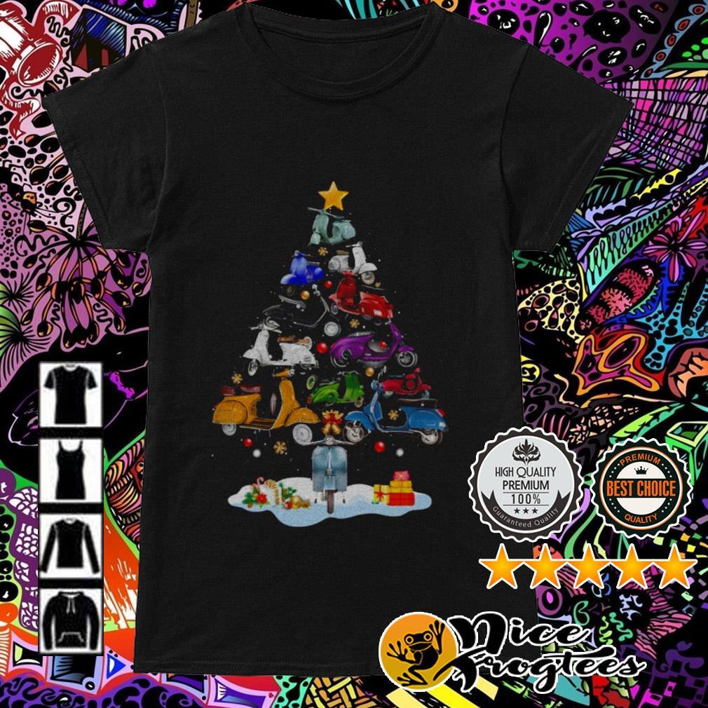 Vespa Piaggio Christmas tree Ladies Tee
