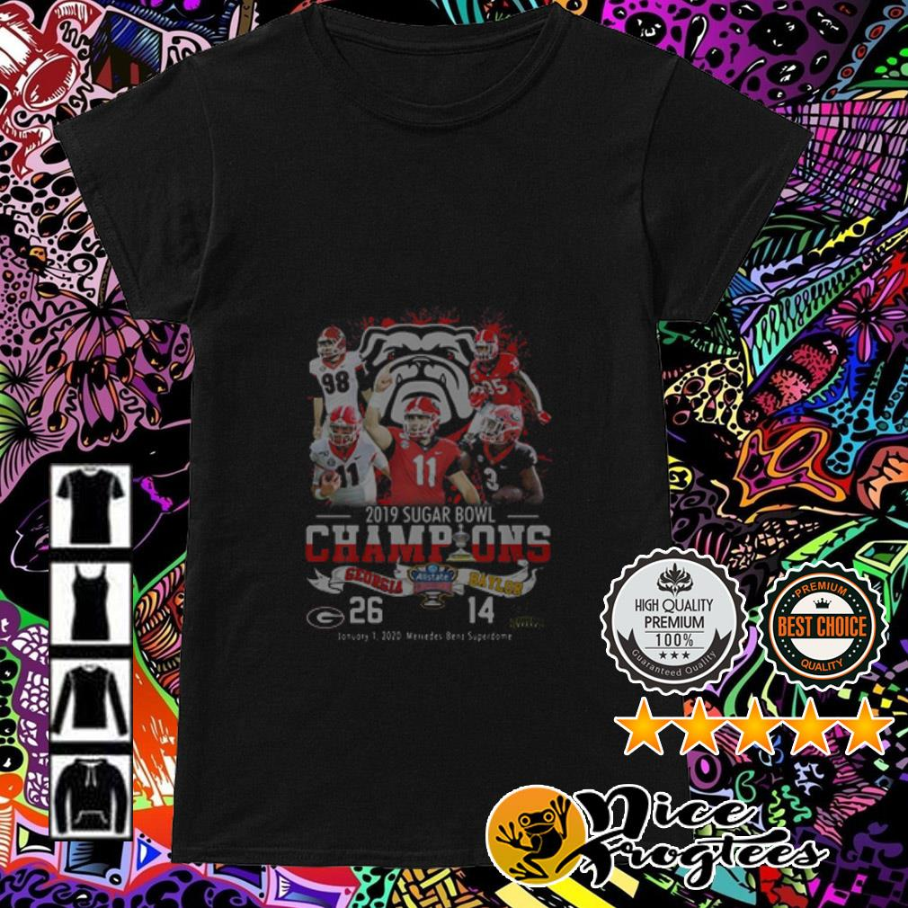 2019 Sugar Bowl Champions Georgia Bulldogs Baylor Bears Ladies Tee
