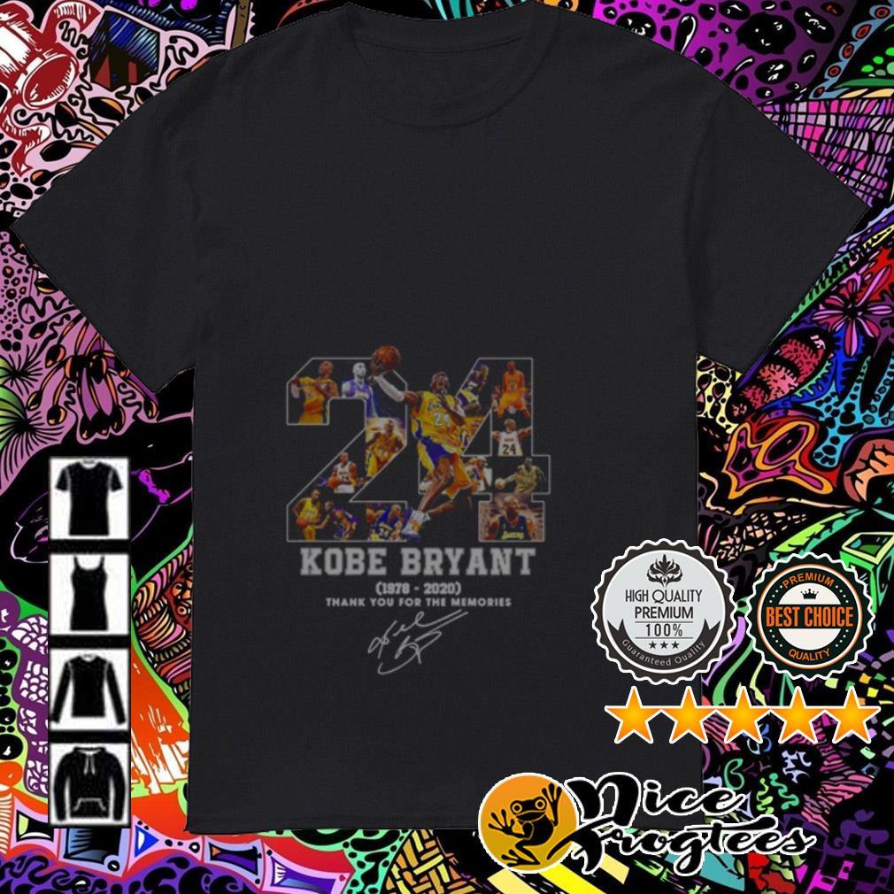 24 Rip Kobe Bryant 1978-2020 thank you for the memories signature shirt