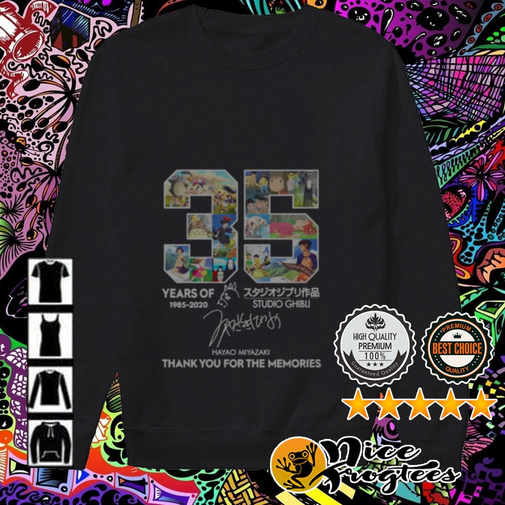 35 Years of 1985-2020 Studio Ghibli thank you for the memories Sweater