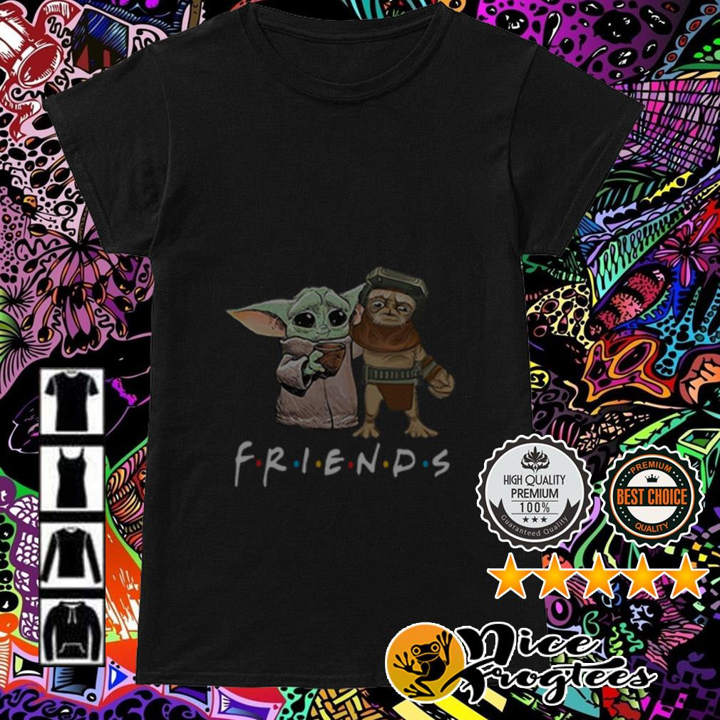 Baby Babu Frik and Baby Yoda Friends Ladies Tee