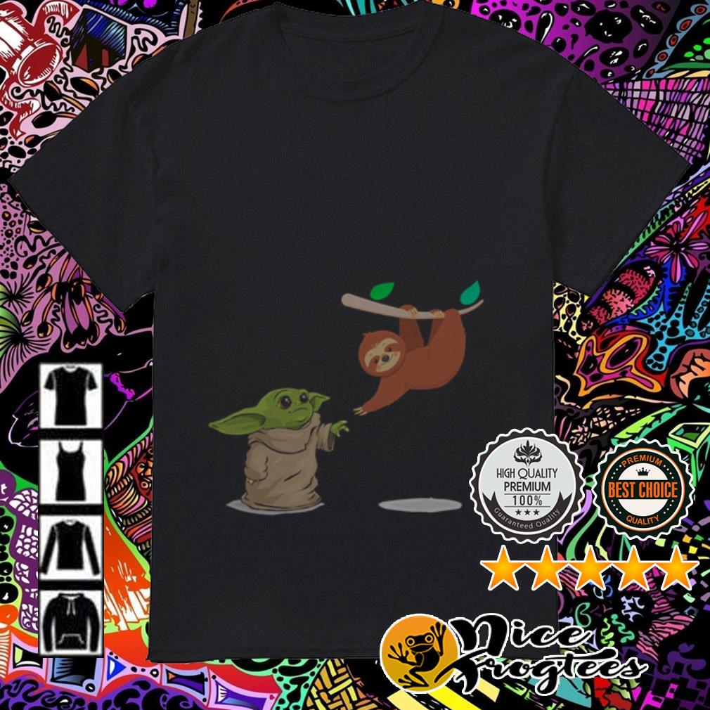 Baby Yoda and Sloth shirt
