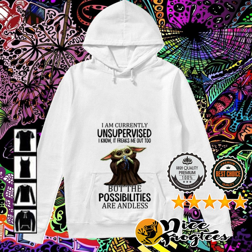 Baby Yoda I am currently unsupervised I know it freaks me out too but the possibilities Hoodie