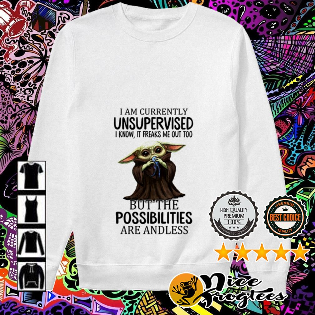 Baby Yoda I am currently unsupervised I know it freaks me out too but the possibilities Sweater