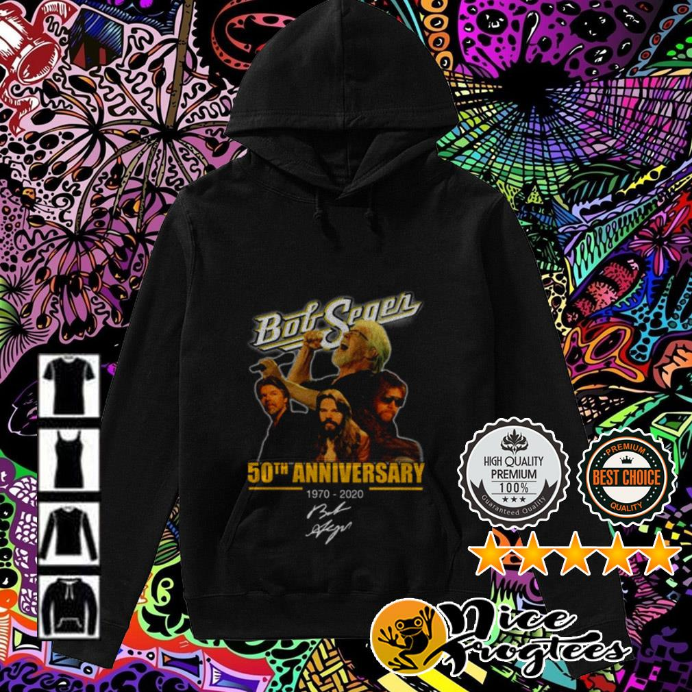 Bob Seger 50th Anniversary 1970-2020 signatures Hoodie