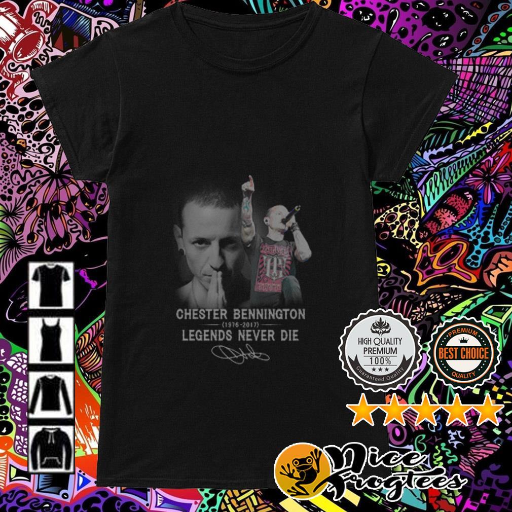 Chester Bennington 1976-2017 legends never die signature Ladies Tee