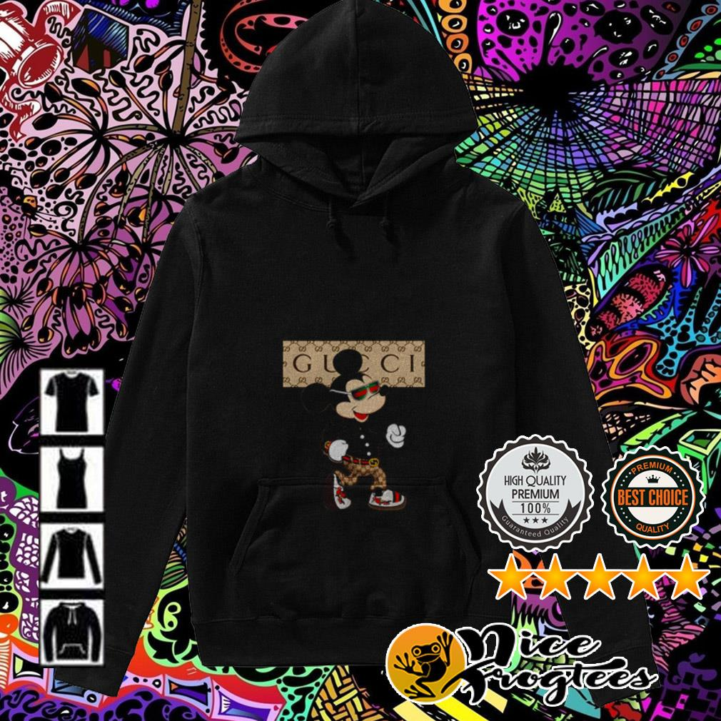 Disney Mickey Mouse wearing Gucci Hoodie