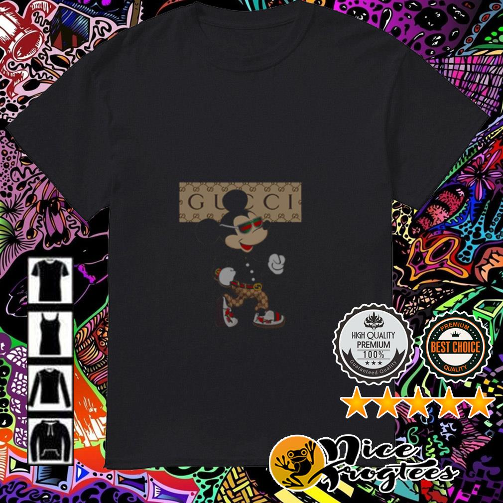 Disney Mickey Mouse wearing Gucci shirt