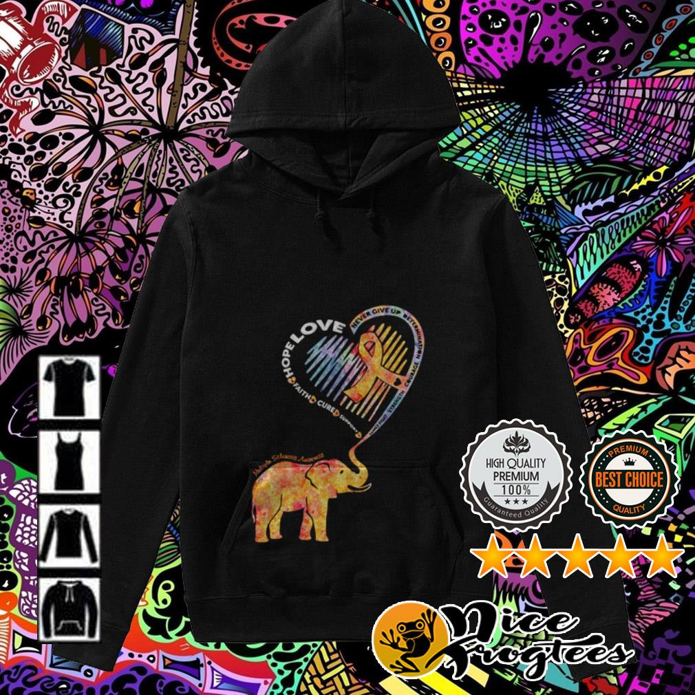 Elephant heart hope love faith cure support never give up determination Hoodie