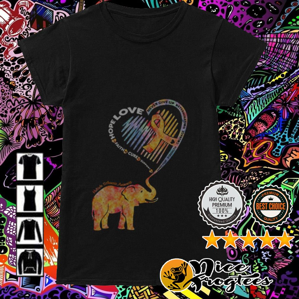 Elephant heart hope love faith cure support never give up determination Ladies Tee