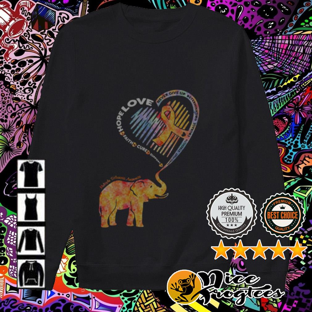 Elephant heart hope love faith cure support never give up determination Sweater
