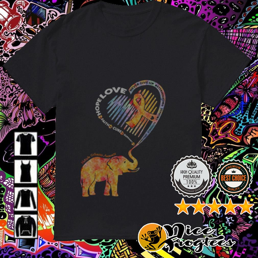 Elephant heart hope love faith cure support never give up determination shirt
